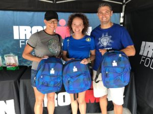 """We've got your back(pack)"" intiative at IRONMAN Texas Expo."