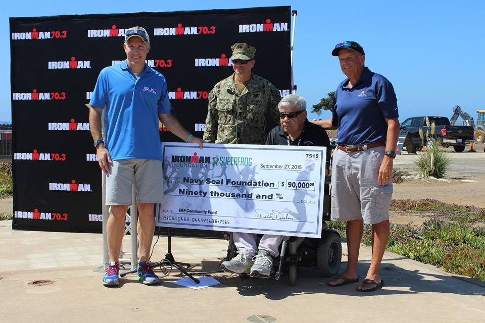 IRONMAN 70.3 Superfrog Donation to Navy Seal Foundation