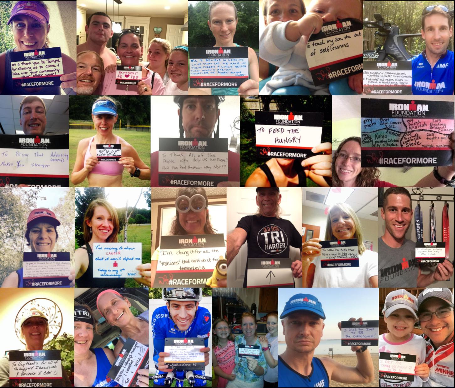 2015 #RaceForMore Selfie Collage