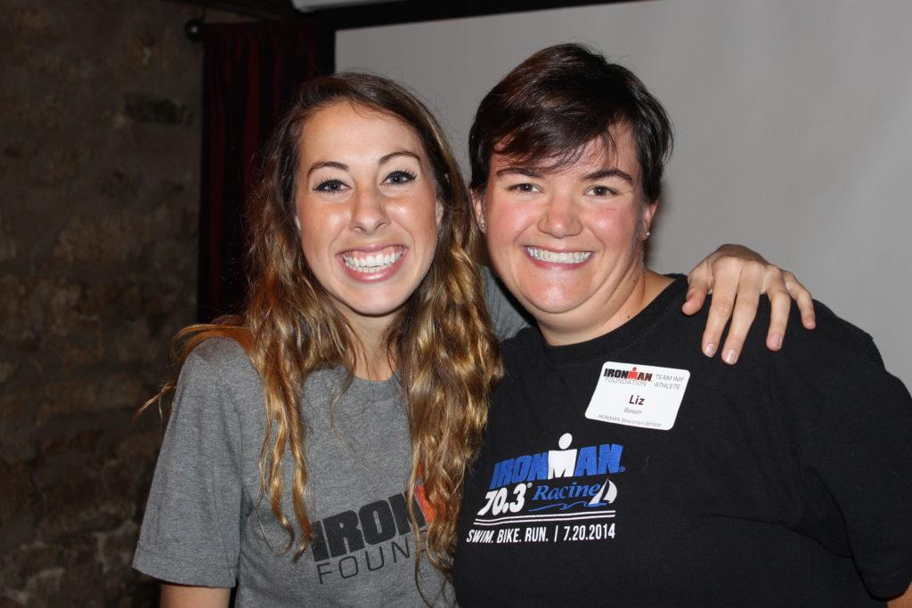 Liz Bower with IRONMAN Foundation Program Coordinator Julianne Newman