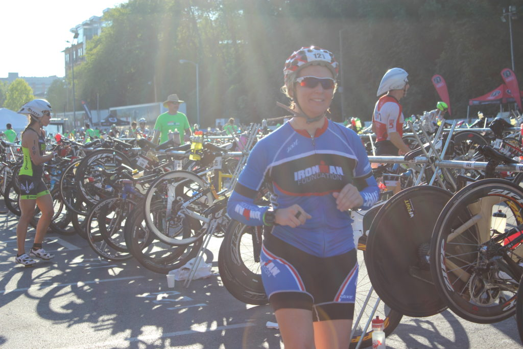 TEAM IMF Athlete, Erica Maynard-Uliasz, is ready to have a great bike ride!
