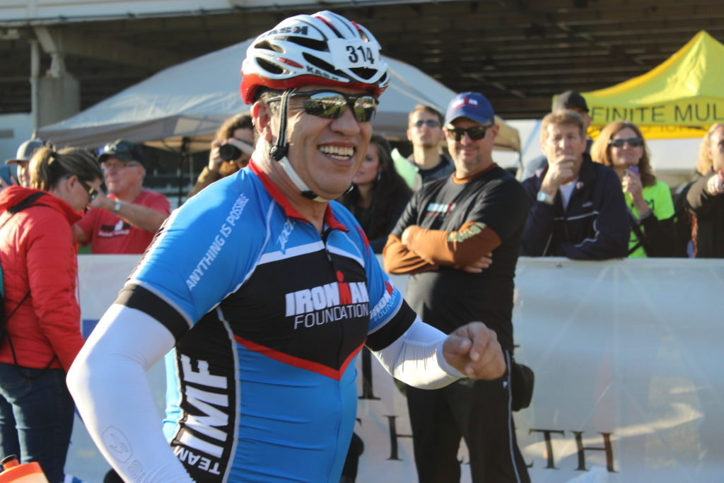 TEAM IMF Ambassador, Carlos Cuellar, flashes a smile in T1.