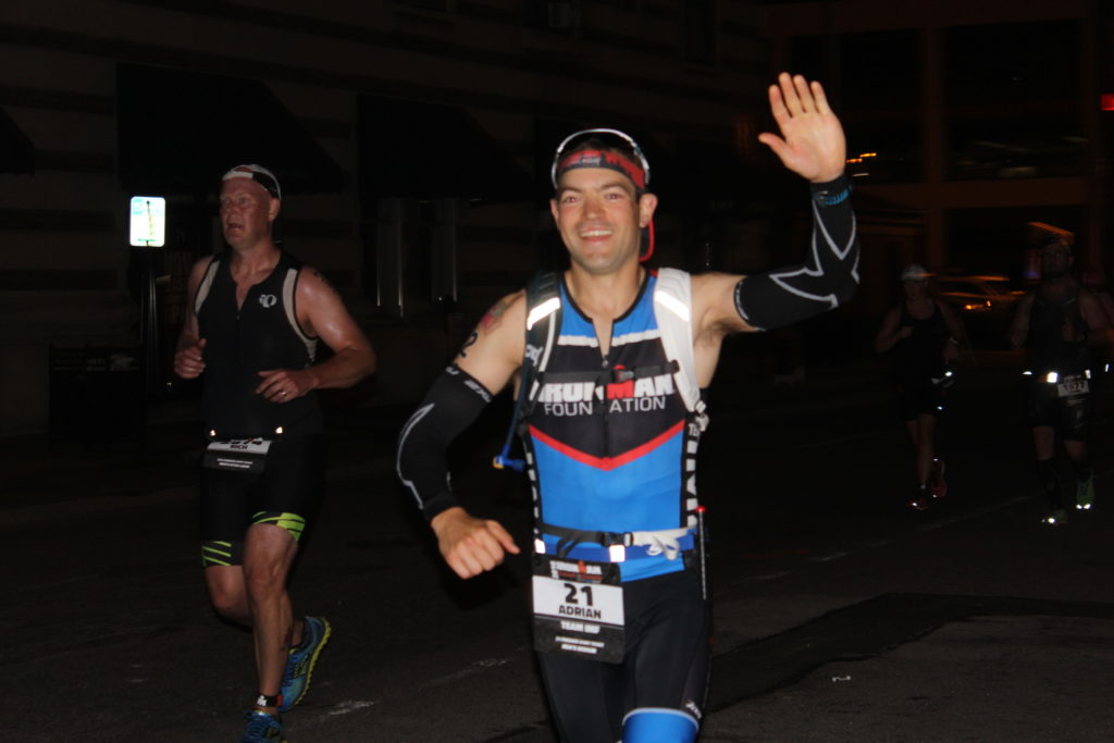 TEAM IMF Athlete Adrian Bilyk is within a mile of his first IRONMAN Finish Line!!!