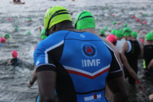 TEAM IMF Athlete, Cedrick Dujon, is ready to CRUSH the swim!