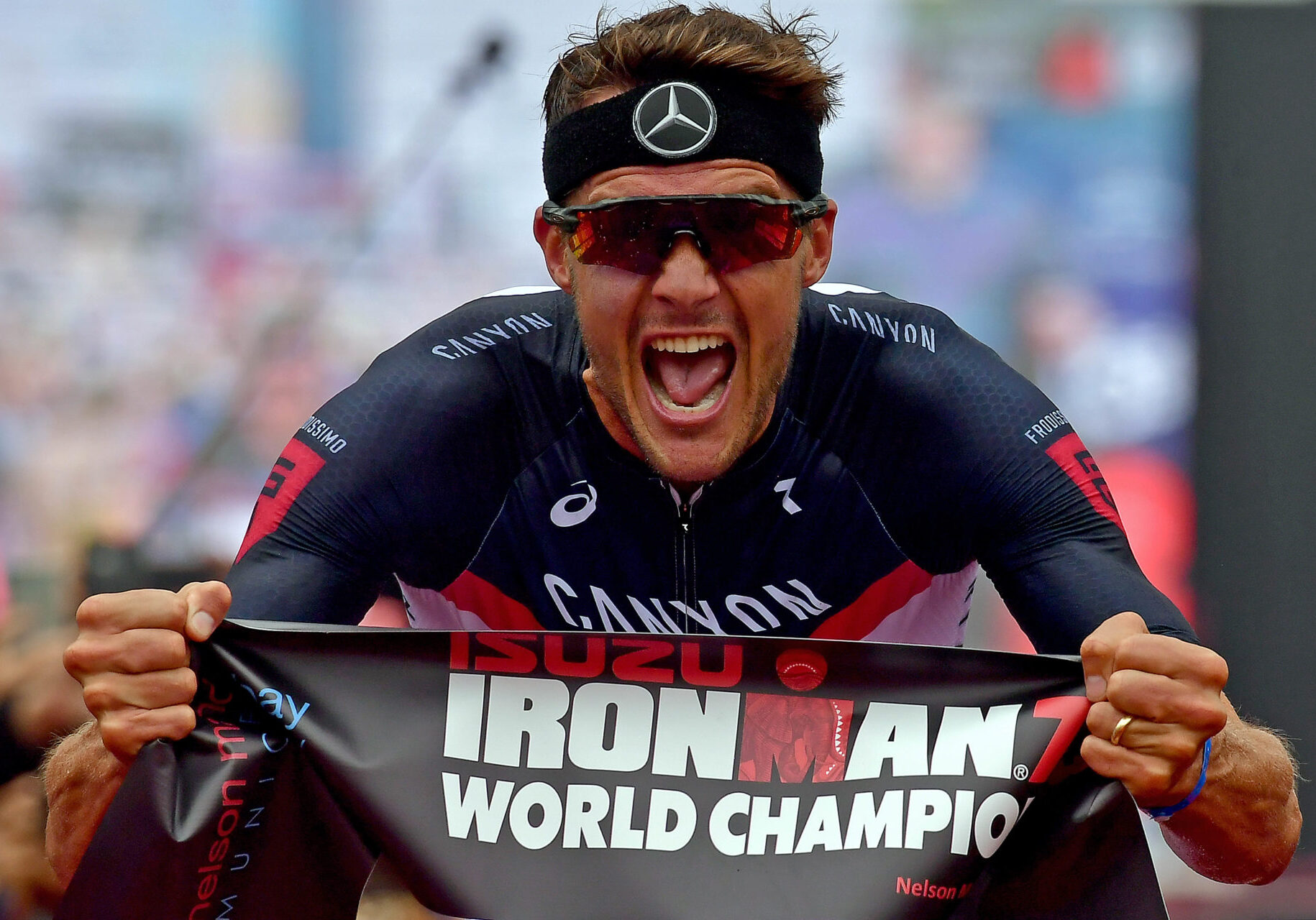 PORT ELIZABETH - SEPTEMBER 2:  Jan Frodeno of Germany wins the the Isuzu IRONMAN 70.3 World Championship Men in Port Elizabeth, South Africa on September 2, 2018. Over 4,500 athletes from over 100 countries will be represented in this years 70.3 World Championship. (Photo by Donald Miralle/Getty Images for IRONMAN).